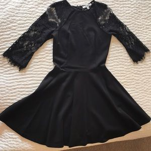 Black with Lace Back Skater Dress